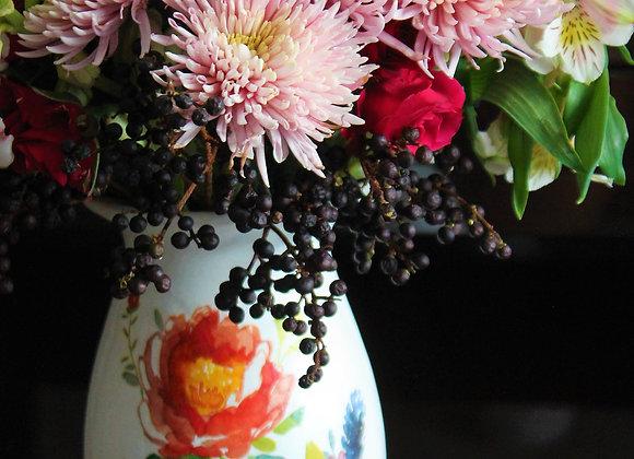 Crisantemos en jarrón