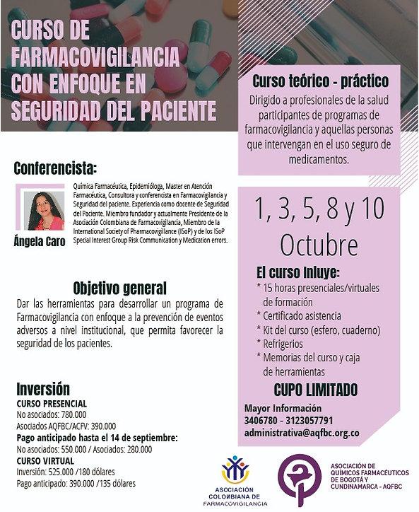 Curso de Farmacovigilancia con enfoque en Seguridad Del Paciete