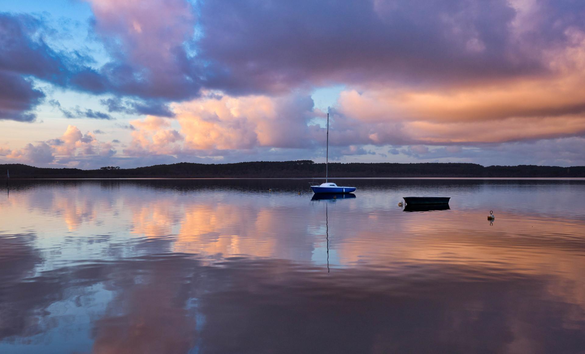 Sunset sur le lac de Léon