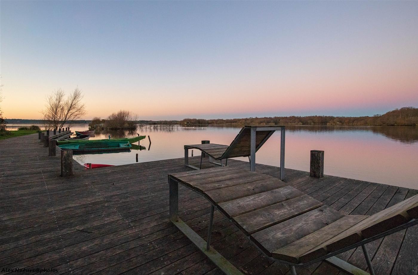 Halte relaxante sur le lac de Léon