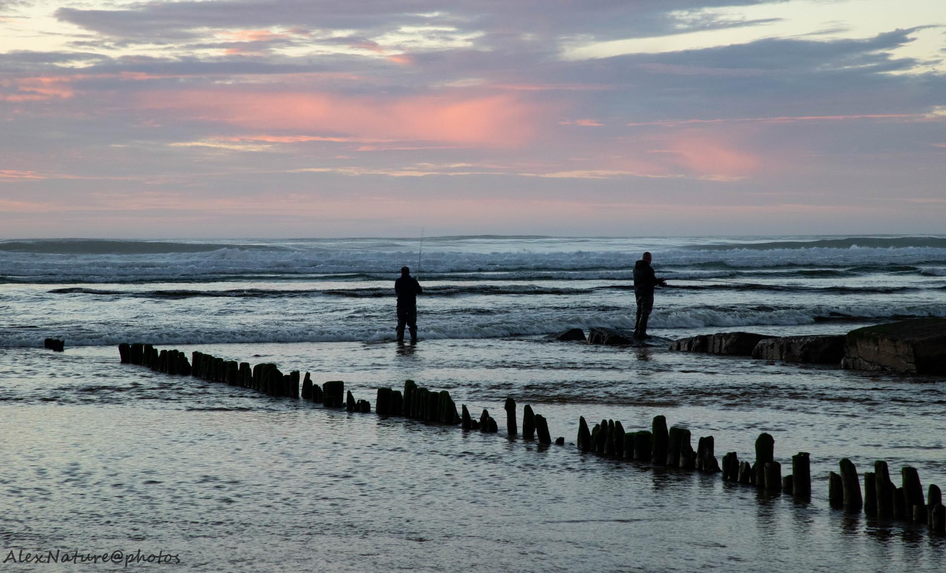 Les pêcheurs, Moliets Plage