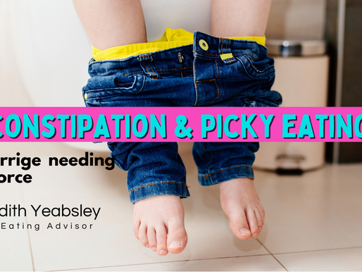 Constipation and picky eating - a marriage needing a divorce!