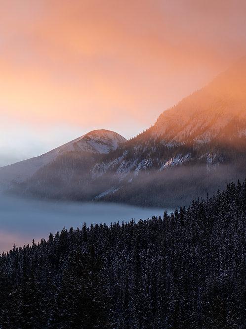 Montagnes enflammées