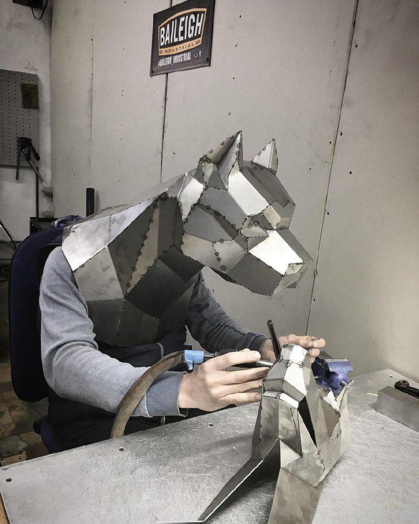Изготовление полигональной скульптуры