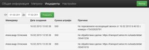 Дашборд «Ваш партнёр» с инцидентами из amoCRM и onlinePBX