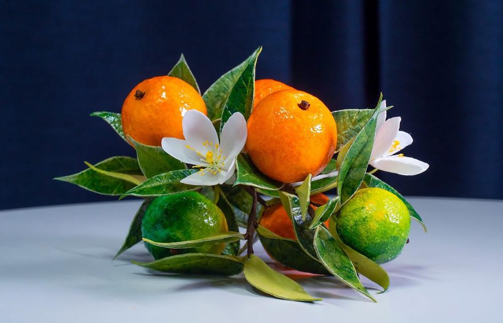 Цветы и фрукты из фоамирана