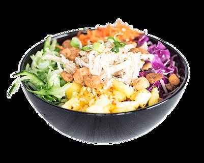 Healthy Chicken Poké Bowl