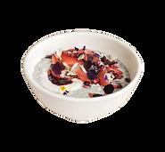 Breakfast Strawberries and Cream Chua Pudding Health Bowl
