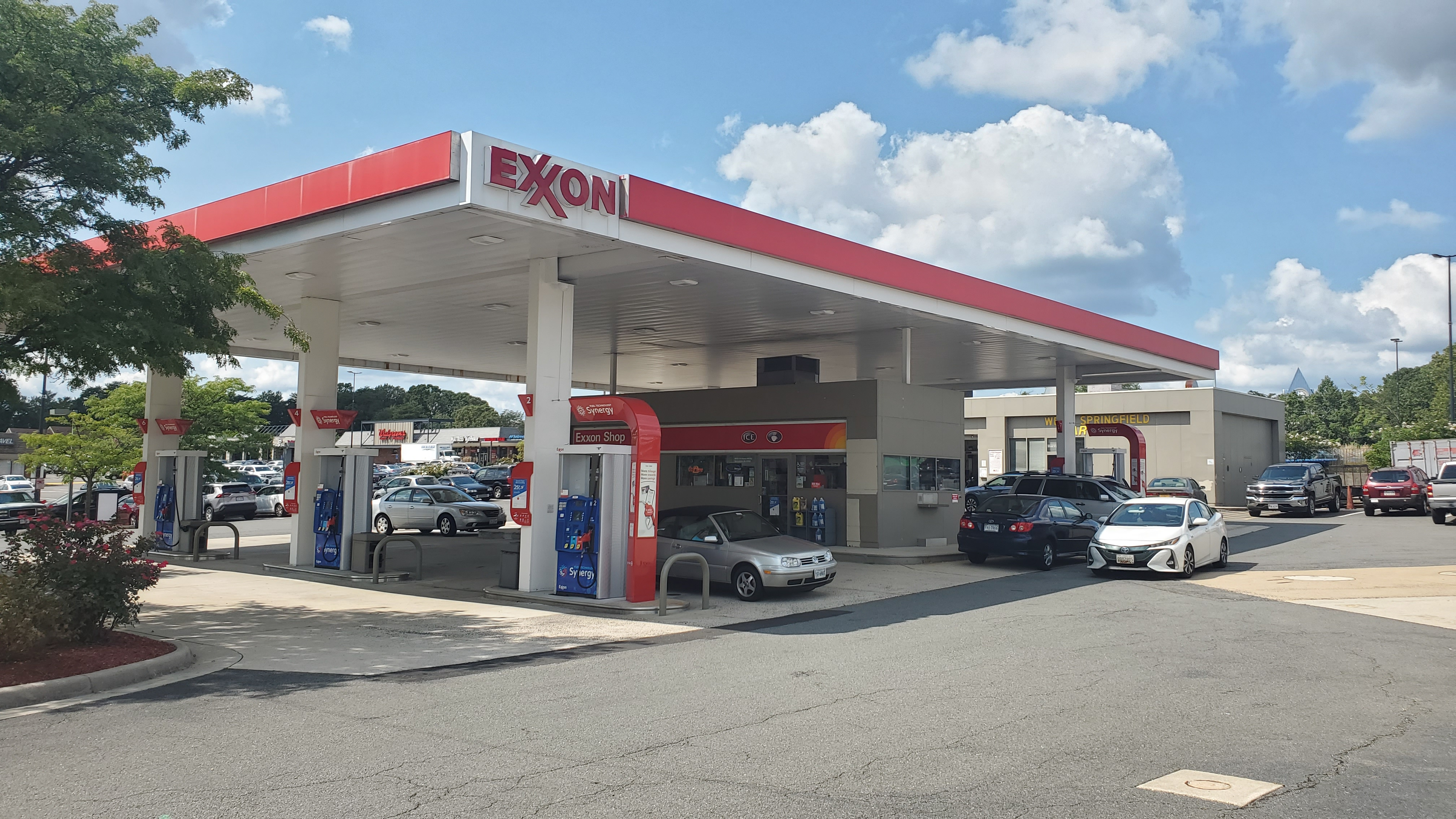Bitcoin ATM inside Exxon Gas