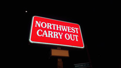 Northwest Carry Out sign