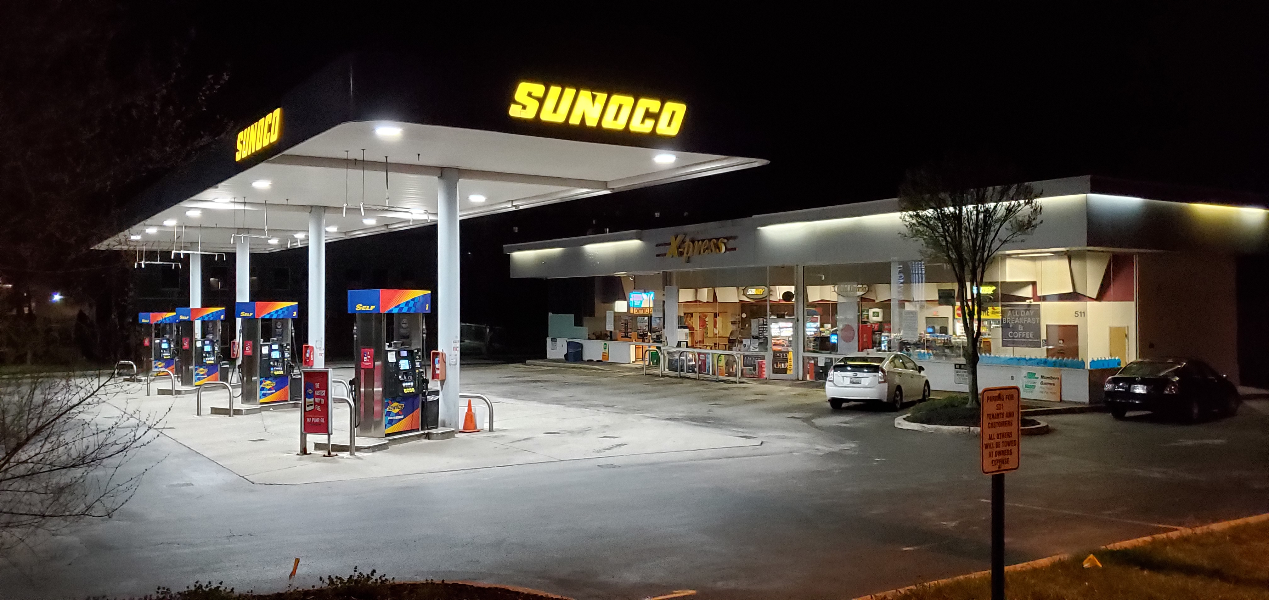 Bitcoin ATM inside Sunoco Gas