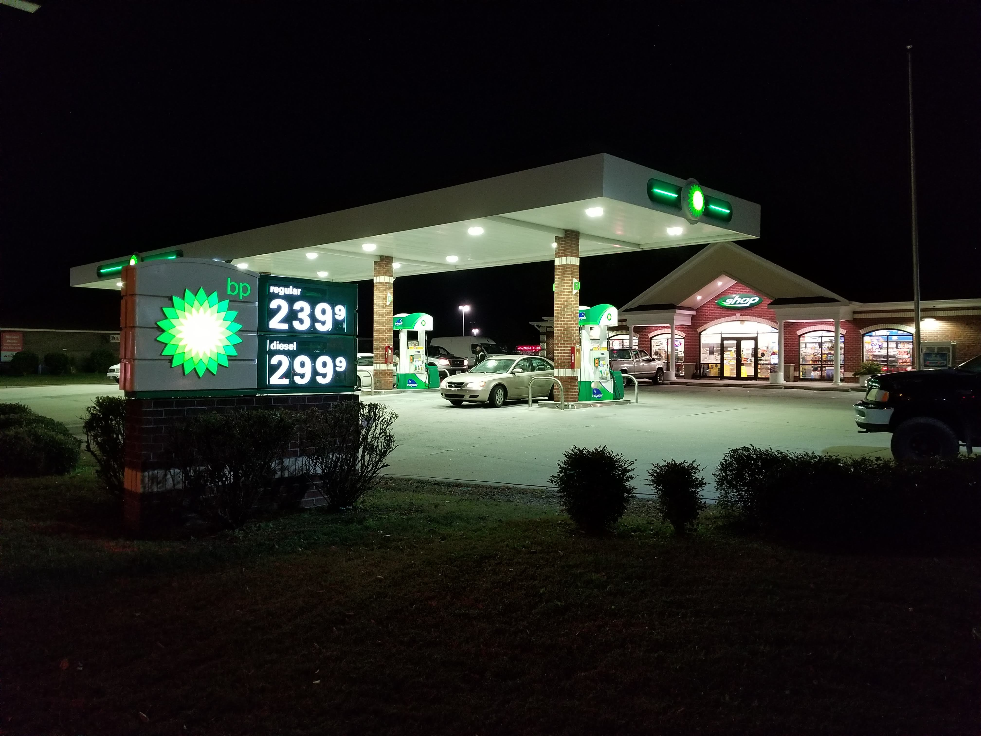 Bitcoin ATM inside BP Gas Station