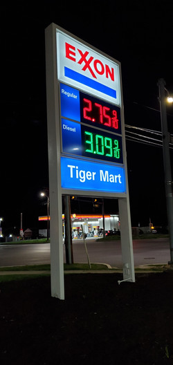 Exxon Gas Station Sign
