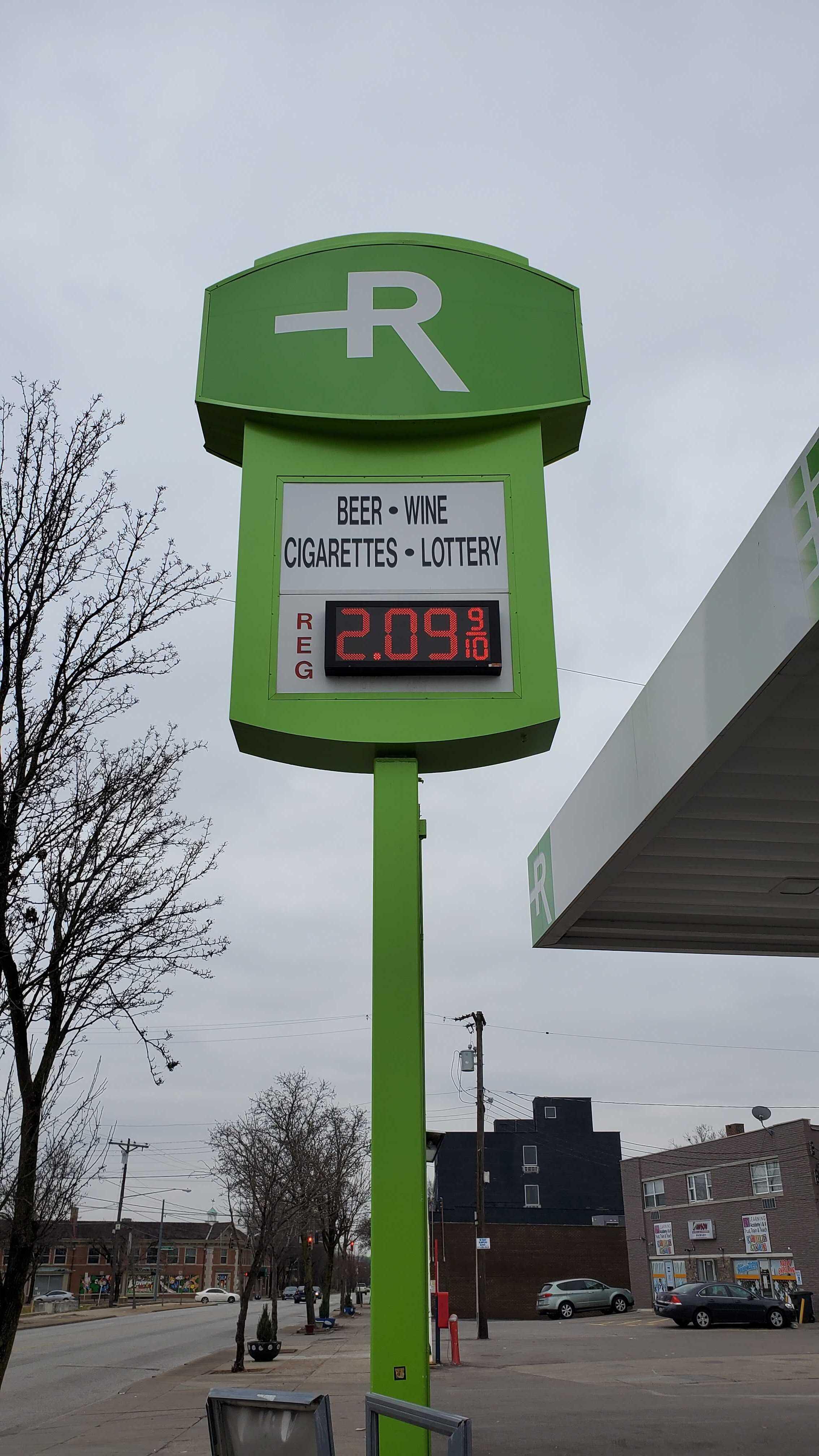 Rubix Gas Sign