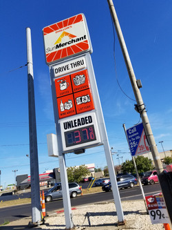 Sun Merchant Gas Sign