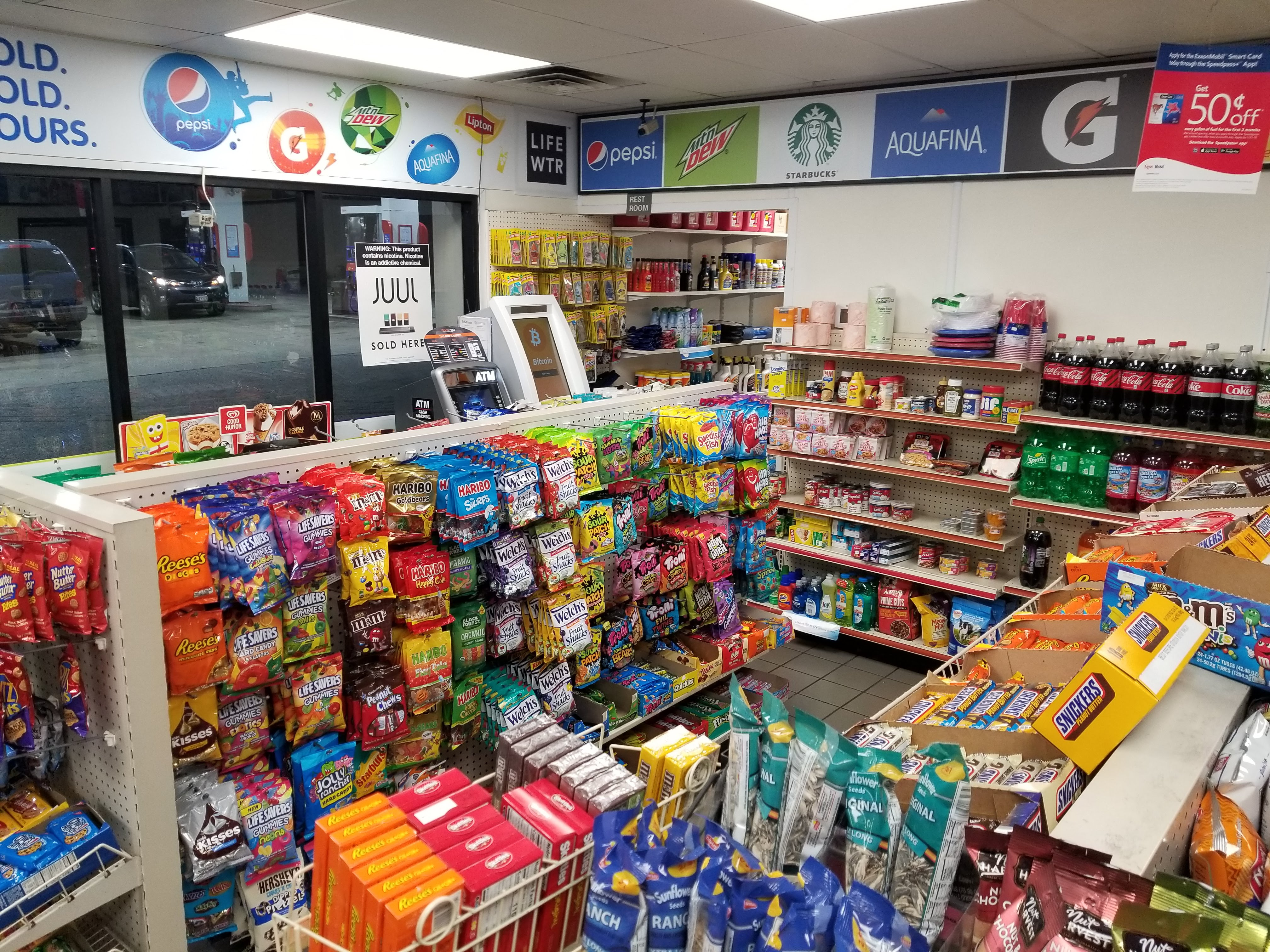 Inside Exxon Gas Station