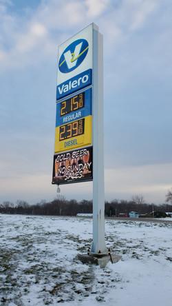 Valero Gas Sign