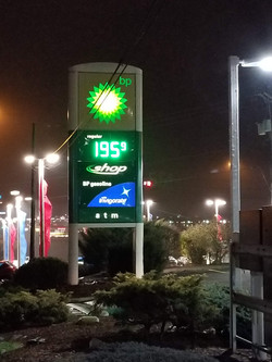 BP Gas Station Sign
