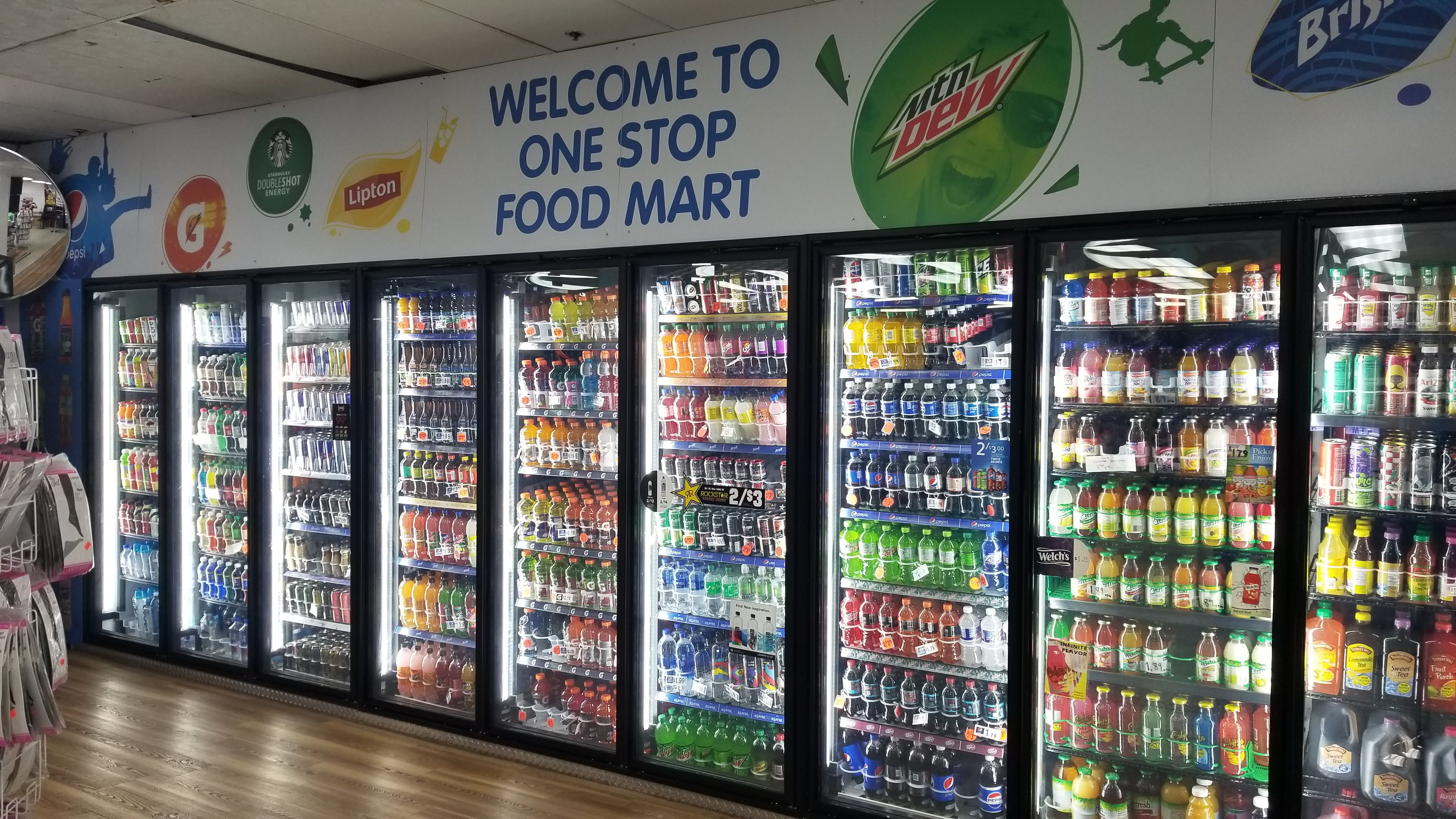 Inside One Stop Food Store