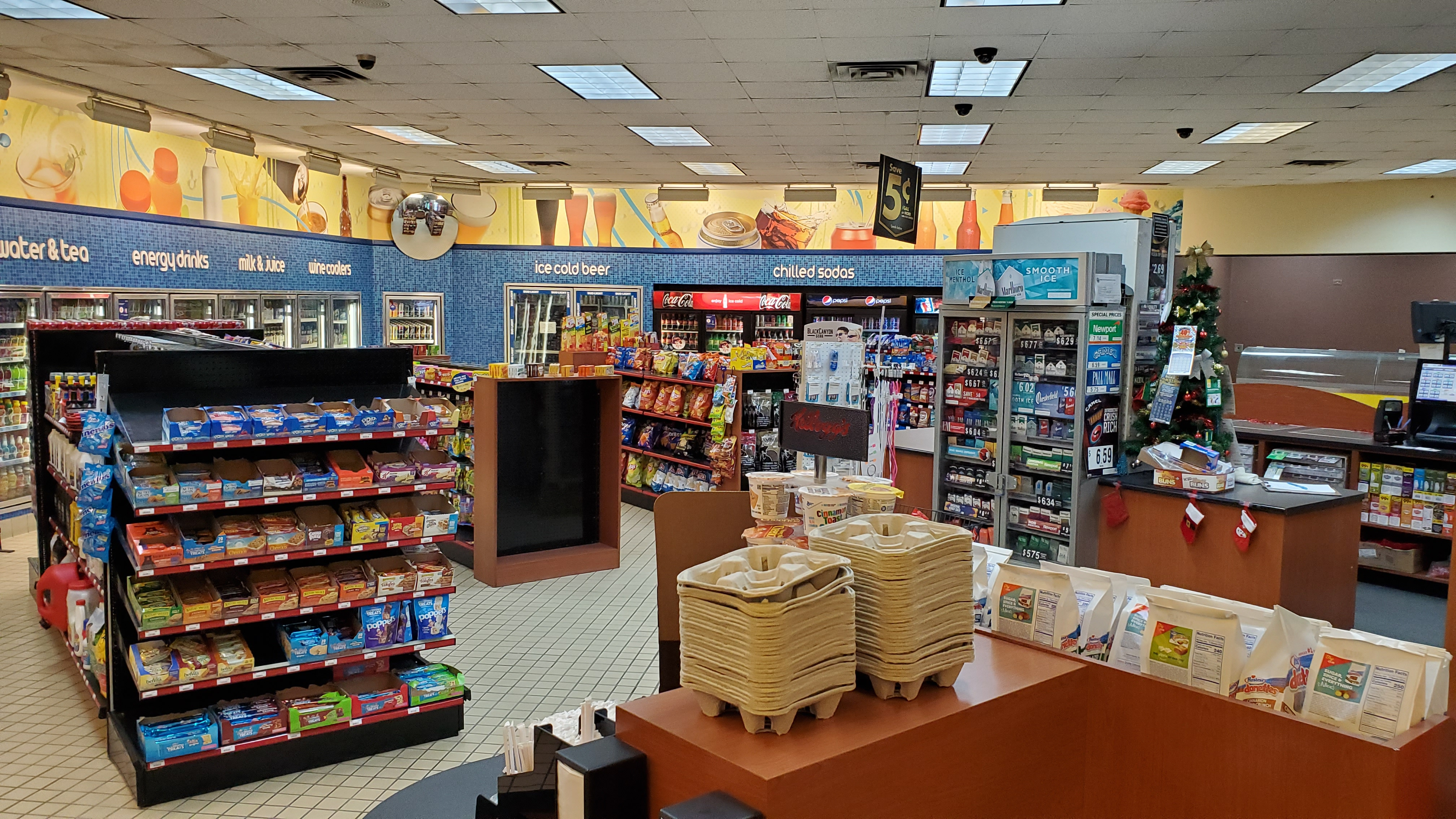 Inside Shell Gas Station