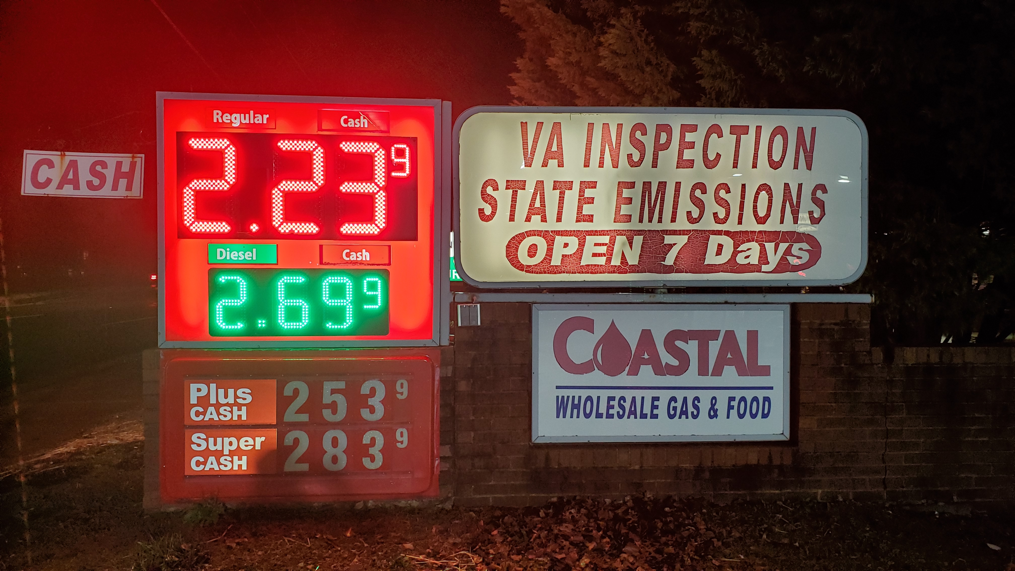 Coastal Gas Sign