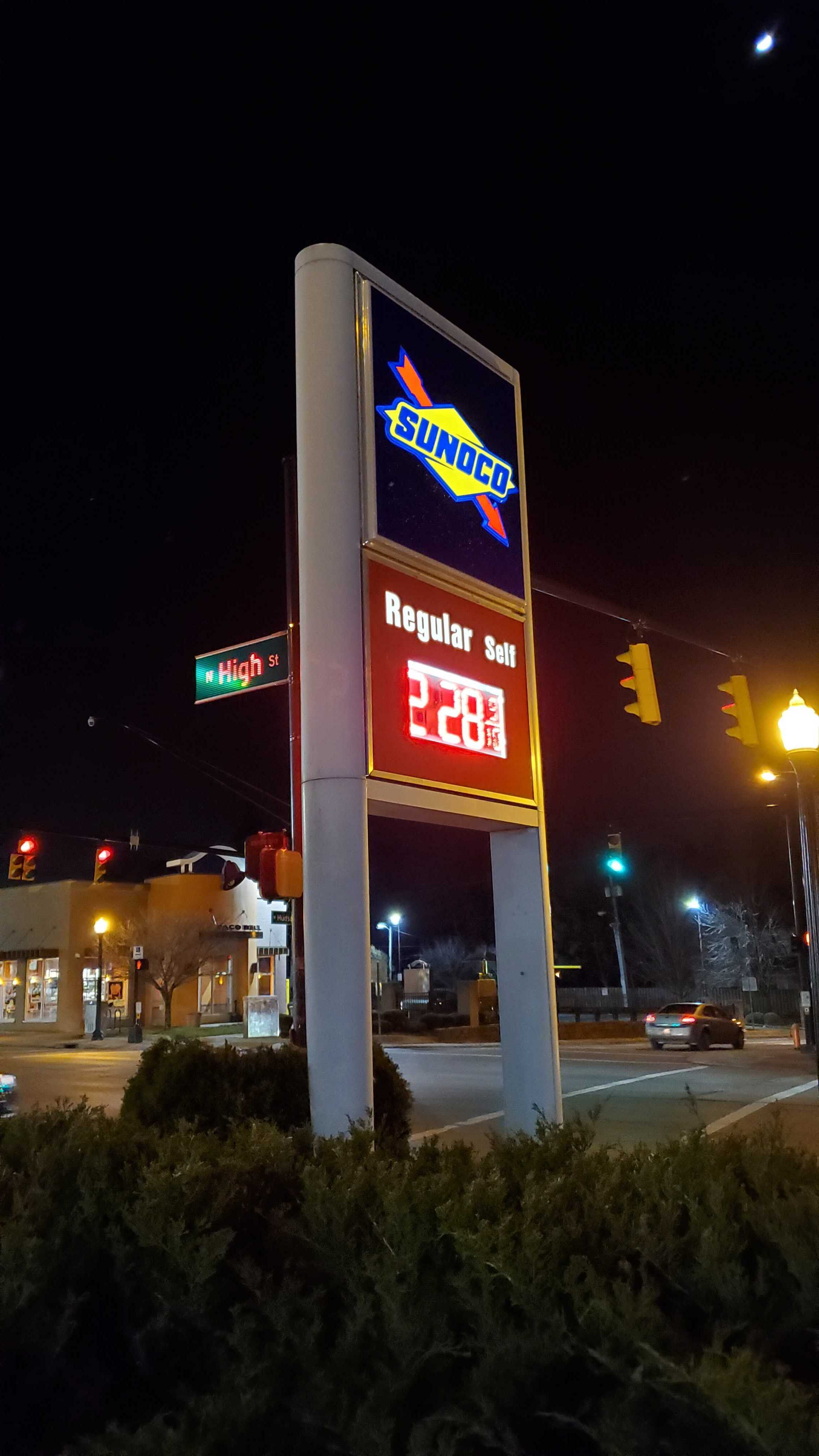 Sunoco Gas sign