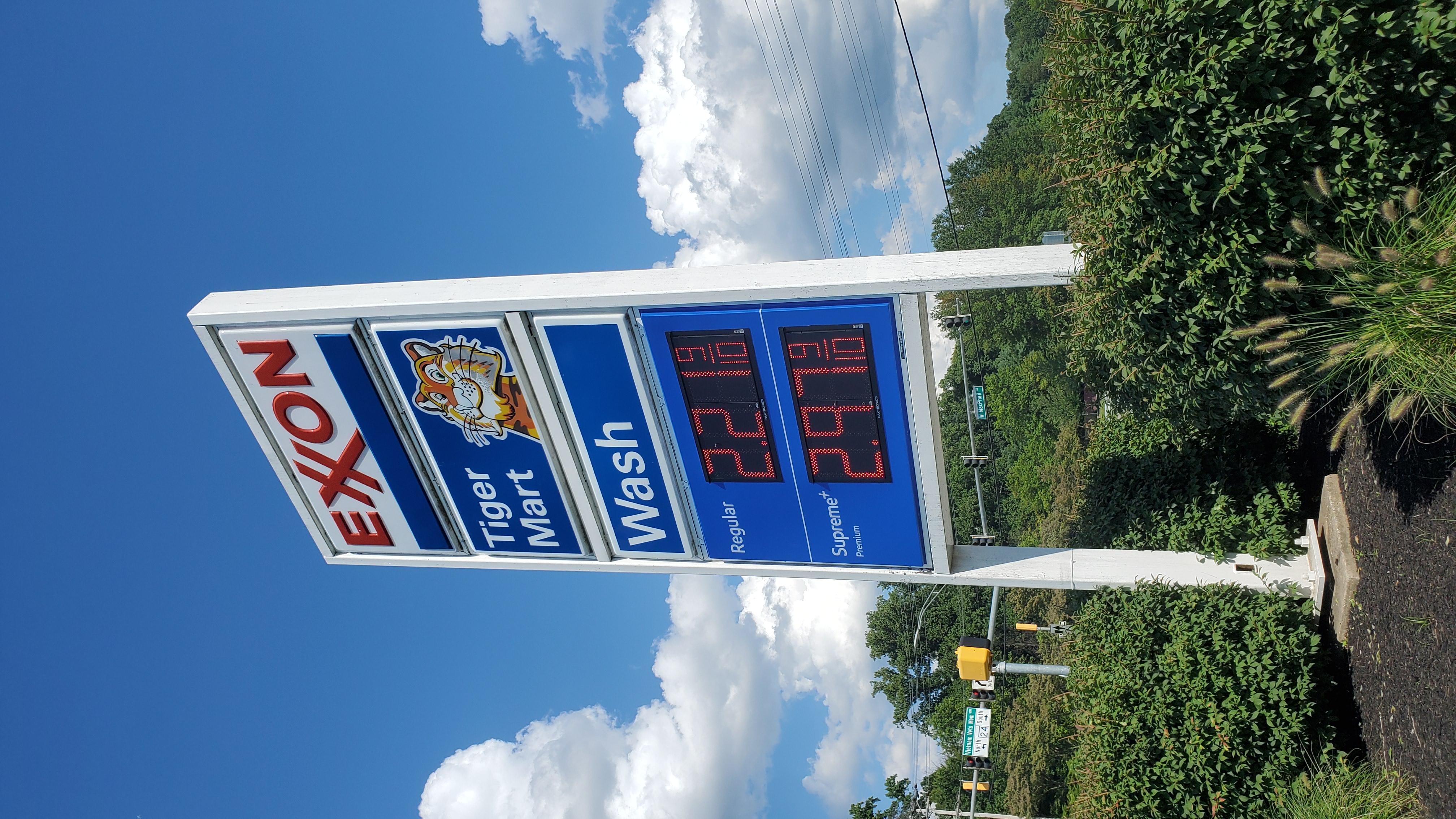 Exxon Gas Sign