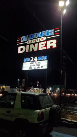 Family Diner Sign