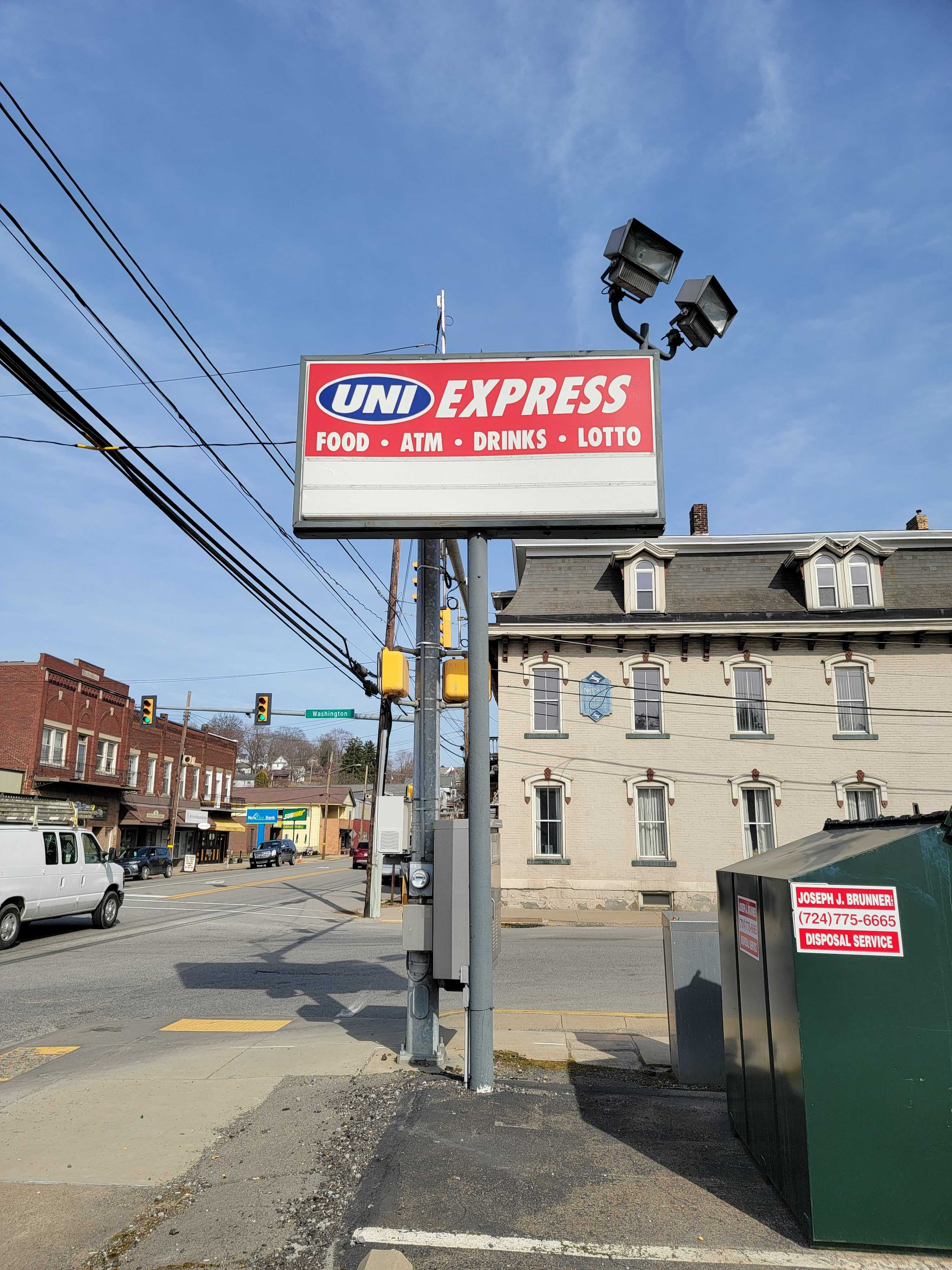 Uni Express Sign