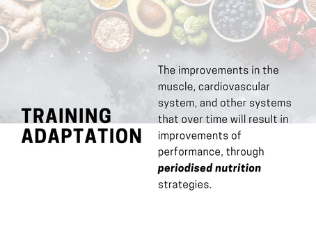 What does training adaptation mean?