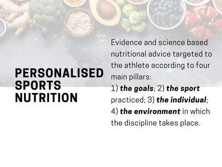 What is personalised sports nutrition?