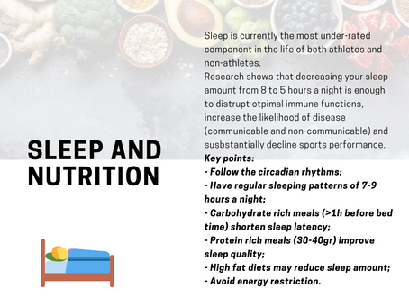 Sleep and nutrition, what to do?