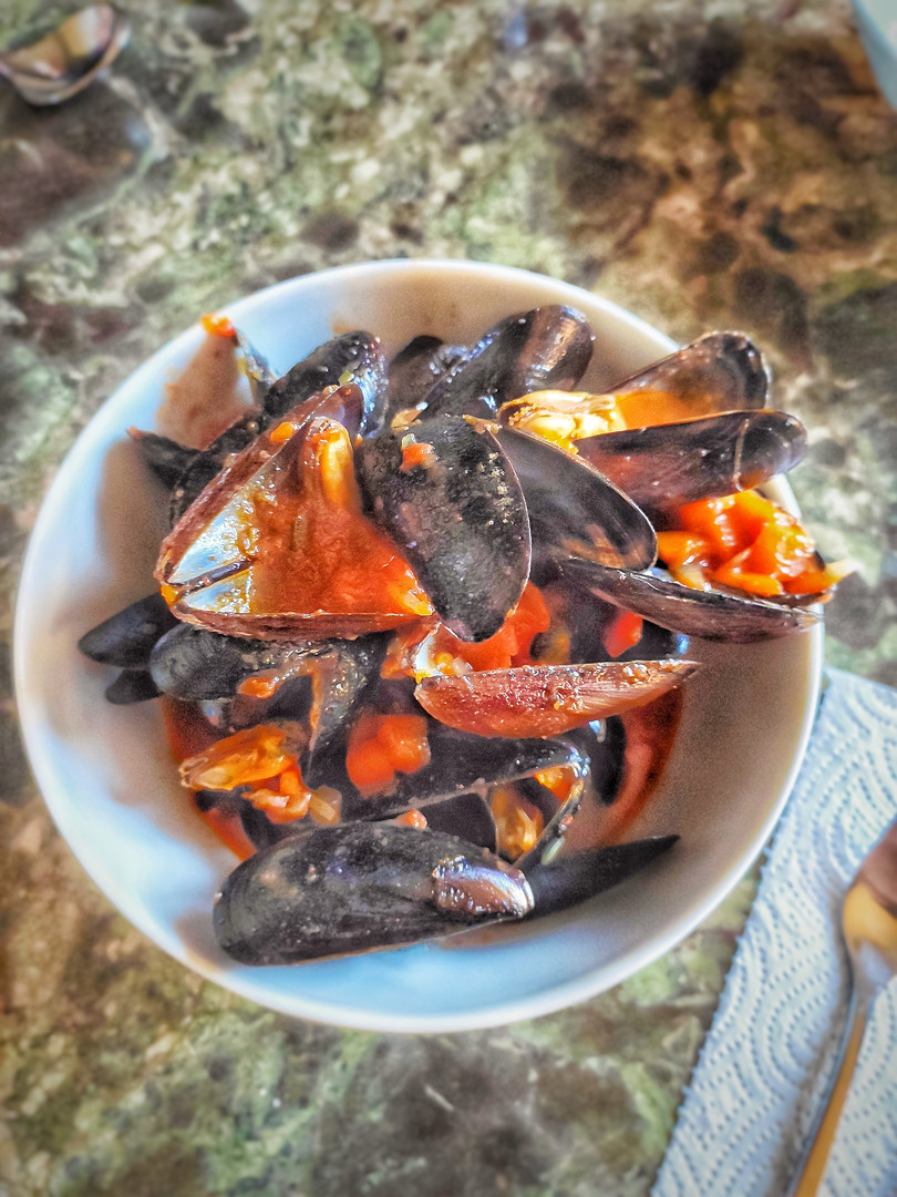 Mussels in tomato and omega 3 sauce