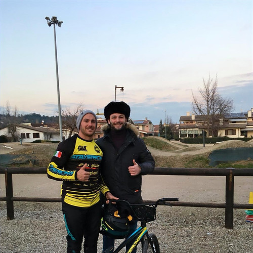 Mattia Furlan and I at the BMX supercross track of Creazzo VI