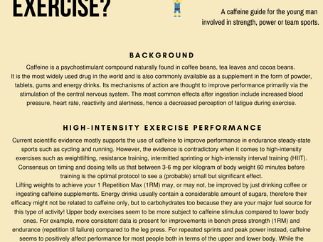 Does caffeine enhance performance in high-intensity exercise?
