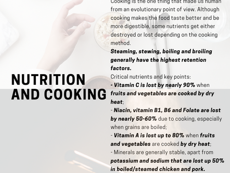 How does cooking affect the nutrition in food?