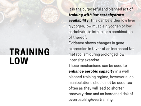 What does training low mean?