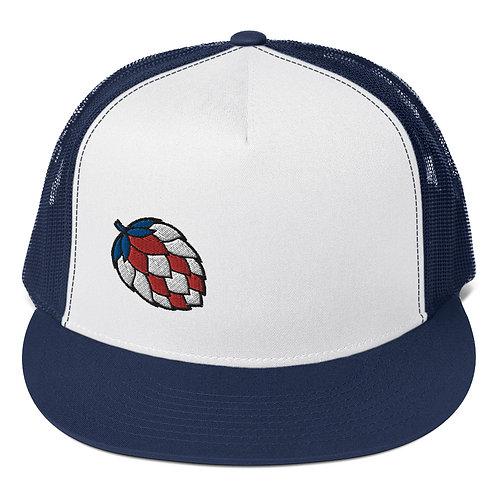 'Merica Hop Navy Trucker Hat