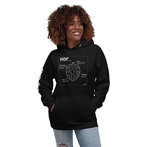 Hop Anatomy Black Hoodie