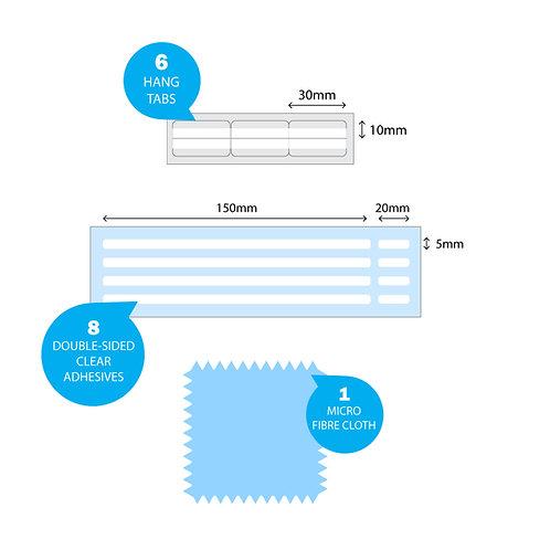 Replacement Privacy filter Attachments &  Micro-fibre Cloth