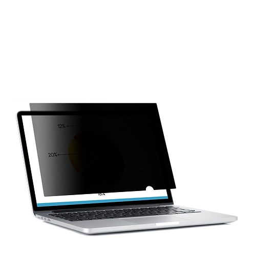 Laptop Black Frameless Privacy & Anti-Glare Filter