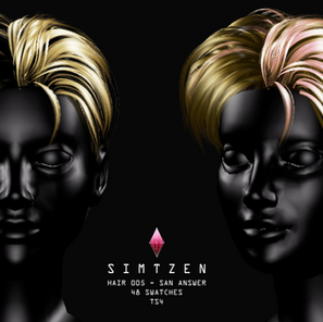 Download Sims 4 CC : ATEEZ San Answer Hairstyle 005