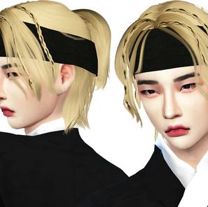 Download Sims 4 CC : God's Menu HYUNJIN Hair 002