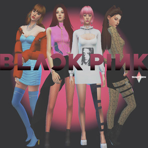 The Sims 4 : BLACKPINK Ddu Du Ddu Du Outfits