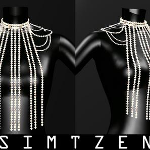 Sims 4 CC Download | Rhinestones Body Chain Accessory 02
