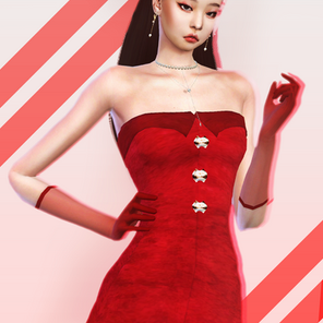 BLACKPINK Jennie SOLO Red Dress | Sims 4 CC Download