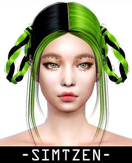 Hair Accessory 06 - Half Half Hair Dye