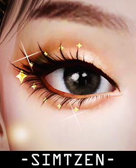 3D Face Gems Eye Crystals Accessory 01