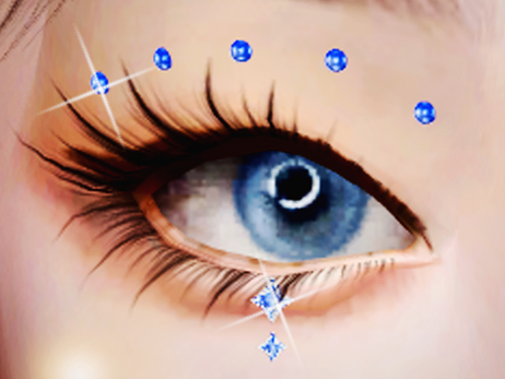 3D Face Gems - Eye Crystals Accessory 03 | SIMS 4 CC DOWNLOAD