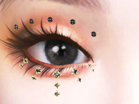 3D Face Gems - Eye Crystals Accessory 04 | SIMS 4 CC DOWNLOAD